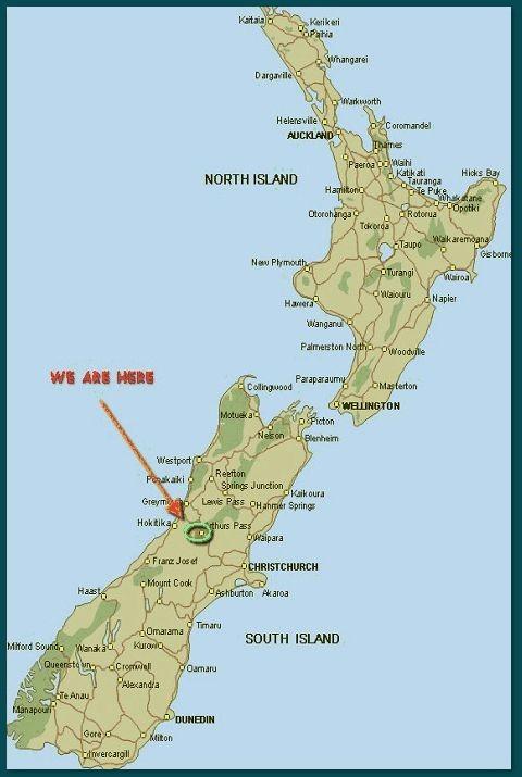 New Zealand Must See Map.Arthur S Pass Alpine Motel